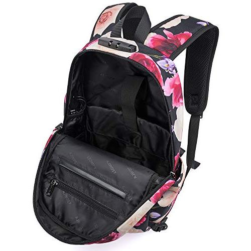 Tzowla Backpack Port and Inch Computer for Women Girls, Casual Travel