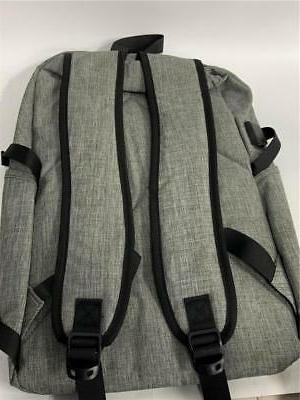 Mancro Polyester Laptop Backpack USB Charging