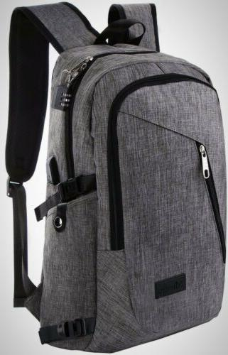 business water resistant polyester laptop backpack usb