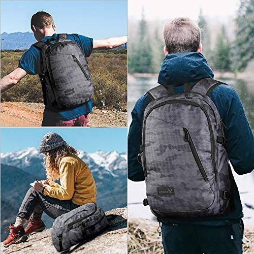 Camo Backpack, Laptop Accessories, School Bag w/Charging Outdoor Daypack Women Boys Girls, 15.6 Notebook