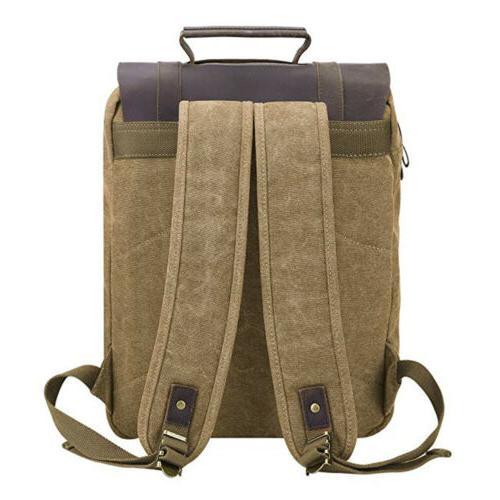 Canvas Backpack Women School Satchel US