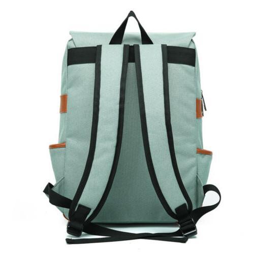 Canvas Backpack Mens Satchel Shoulder