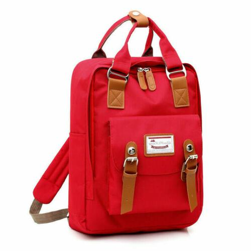 Canvas Backpack School Satchel Bag