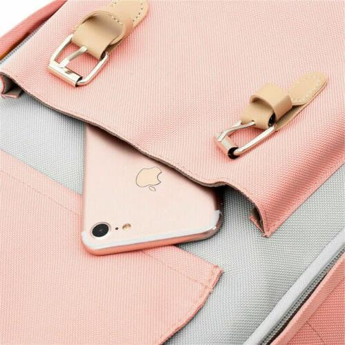 Canvas School Rucksack Laptop Satchel Shoulder Bag