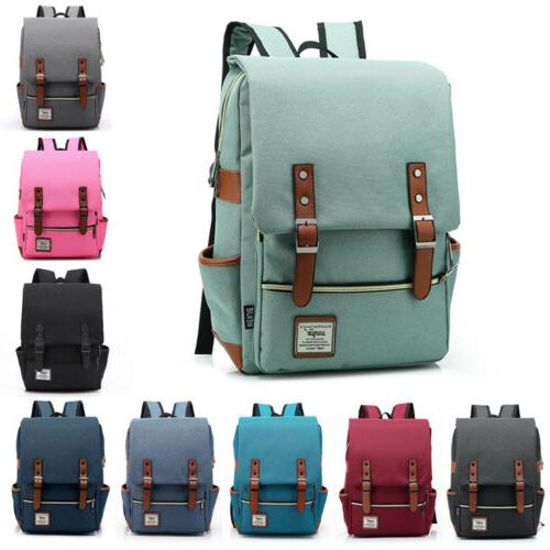 new women men canvas laptop backpack school