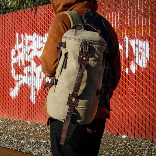Canvas Travel Sport Satchel Laptop Hiking Bag