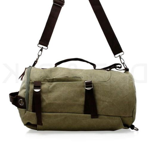 Canvas Backpack Sport School Laptop Hiking Bag