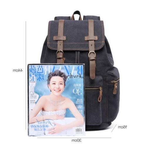 KAUKKO Canvas Notebook Backpack Bag Travel