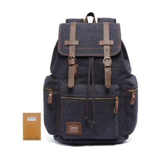 canvas men womens laptop notebook backpack business