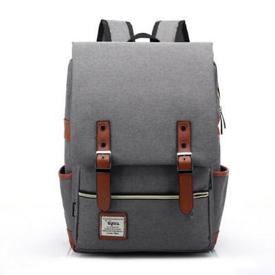 Canvas Bag Rucksack Satchel Backpack Bookbag Laptop Pack