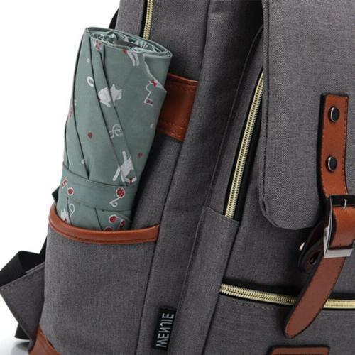 Canvas Rucksack Bookbag Laptop Shoulder