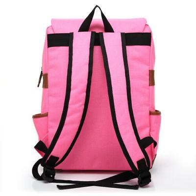 Canvas Rucksack Satchel Backpack Laptop Shoulder Pack