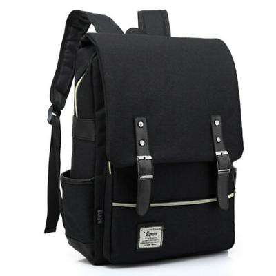 Canvas School Bag Rucksack Satchel Bookbag Laptop Pack