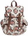 Kenox Canvas School College Backpack/bookbags for Girls/stud