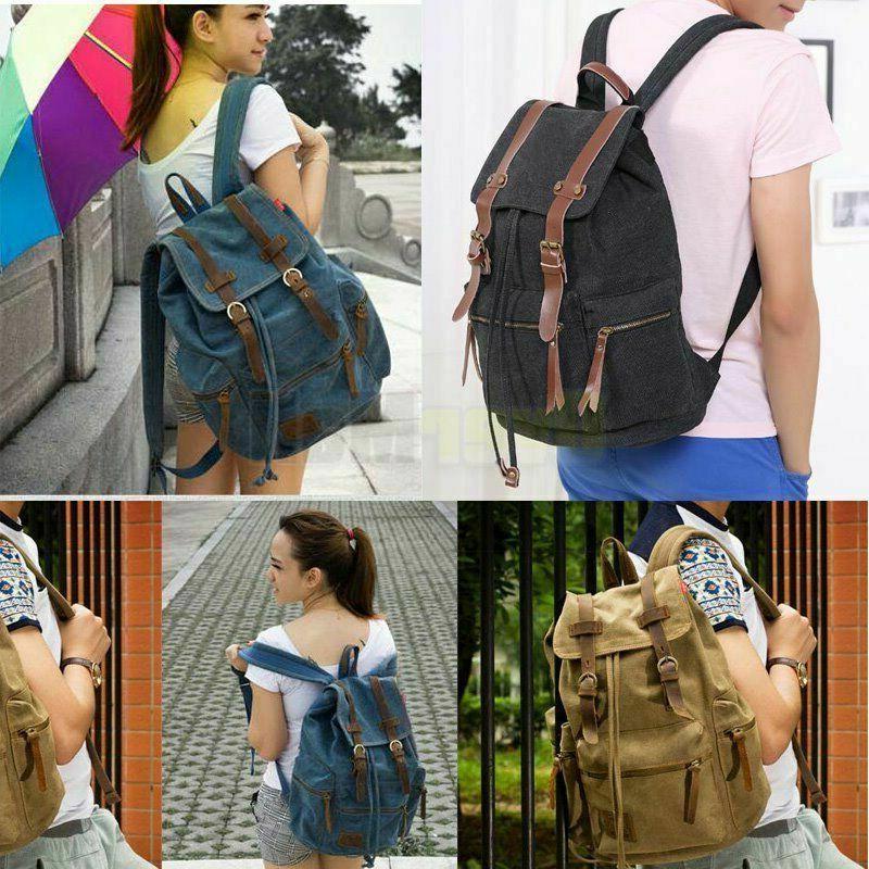 Canvas School Satchel Bag