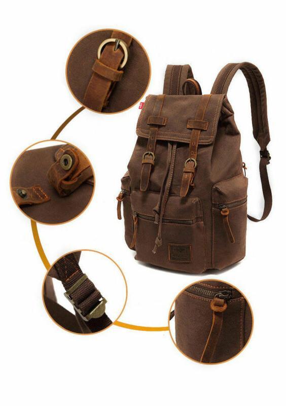 Canvas School Laptop Bag Rucksack
