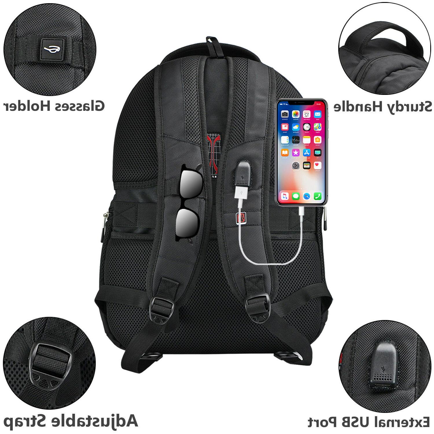 caseen Laptop Backpack Lock Shoulder Business Travel School