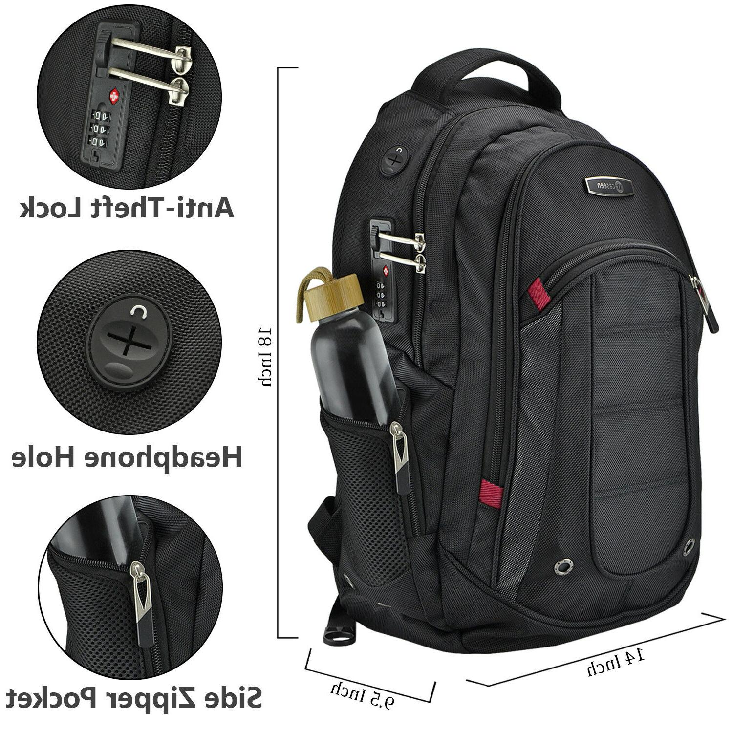 caseen Laptop Lock Travel School Bag