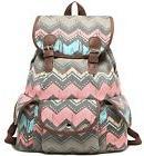 Kenox Casual Canvas School College Backpack Bookbags Rucksac