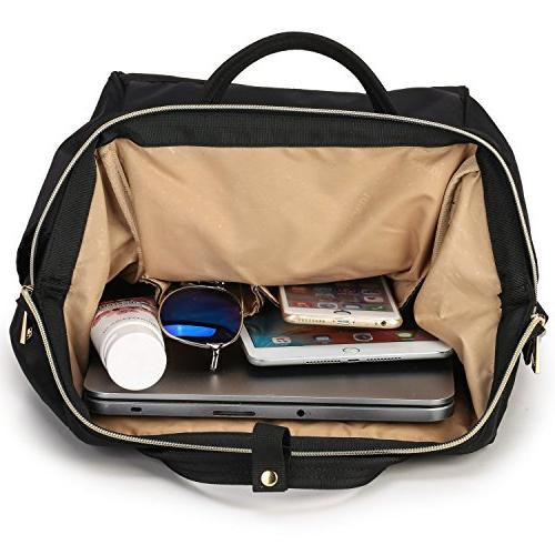 Lily & Travel Daypack School for and 14 Laptop with Wide Top