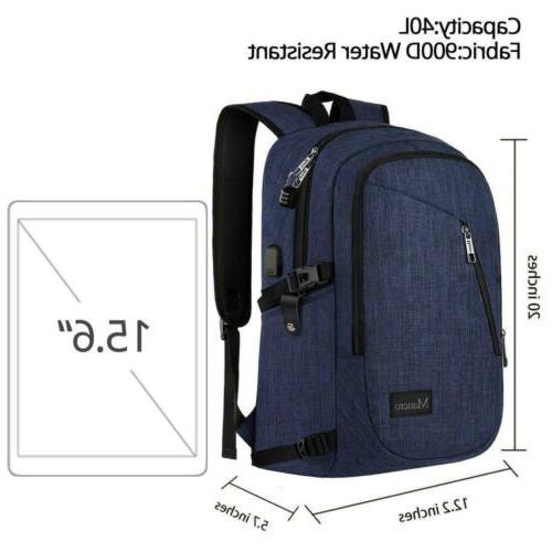 College Backpack, Laptop 15.6 inch, 3-Blue