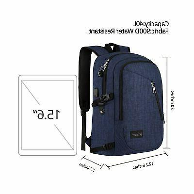 College Backpack, Business Laptop Backpack, Anti-Theft Water Resi...