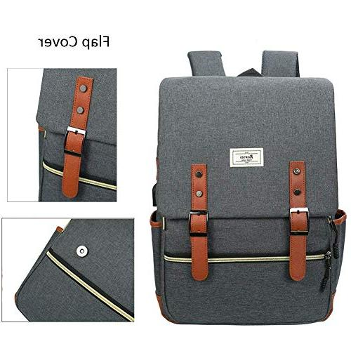 Unisex College Bag Fits up 15.6'' Laptop Casual Backpack Daypacks