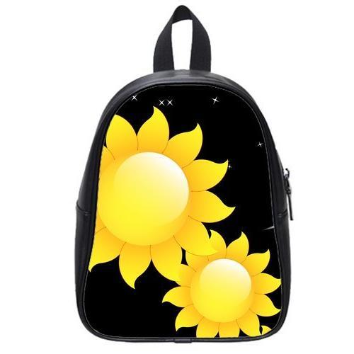 custom childrens sunflowers pu leather