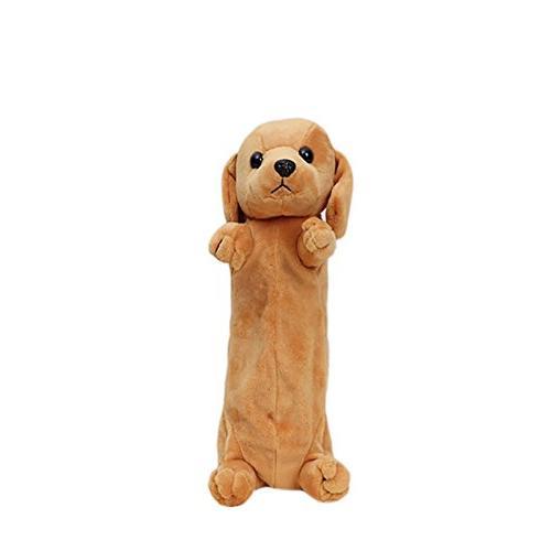 cute plush pencil case dog