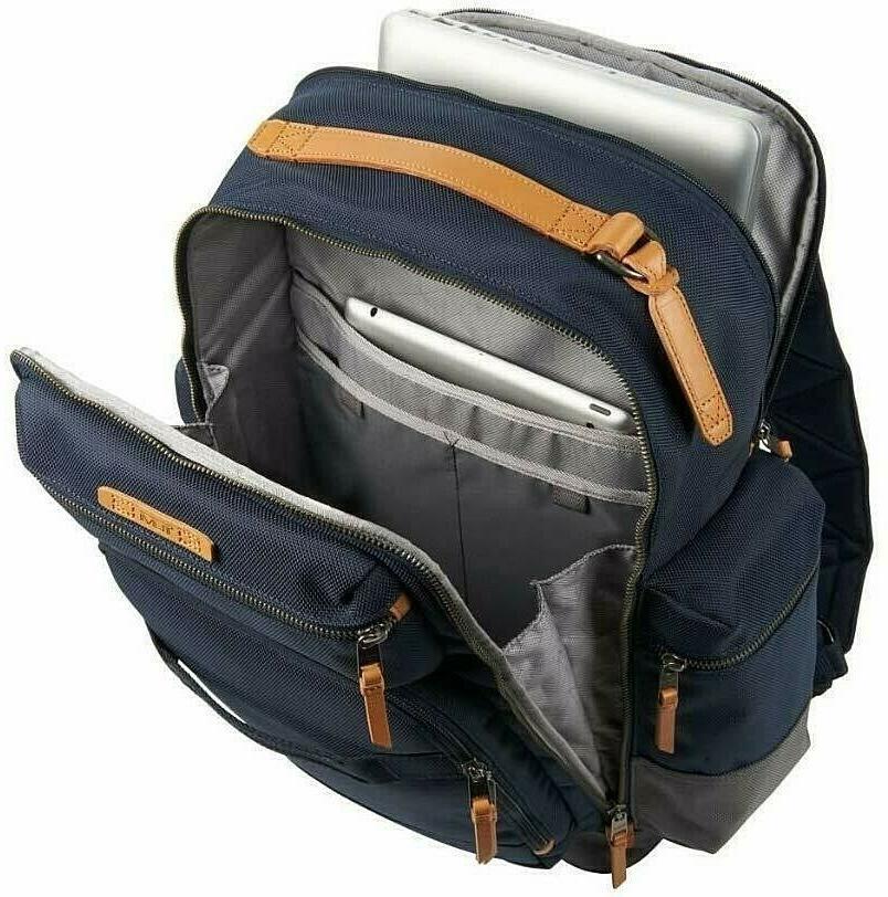 Tumi Dalston Mens Alvington Laptop Travel Backpack Bag Navy