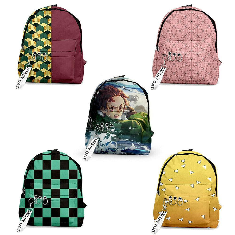 demon slayer kimetsu no yaiba school backpack