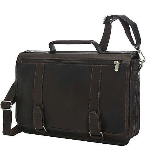 double loop expandable laptop briefcase