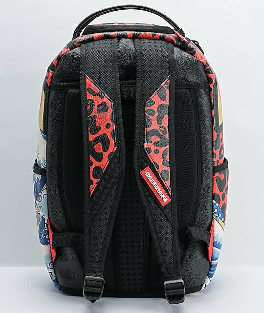Sprayground Dragon Wave Vegan Designer Fashion School Laptop Backpack Bag