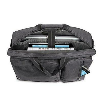 Solo Laptop Briefcase, Converts to Backpack, Grey