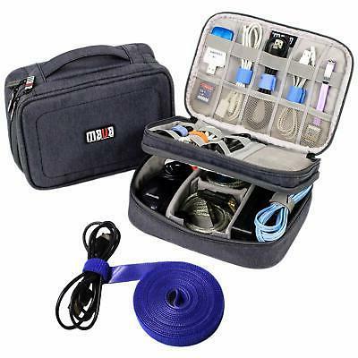 Electronics Travel Organizer Waterproof Storage Bag Gray Bag