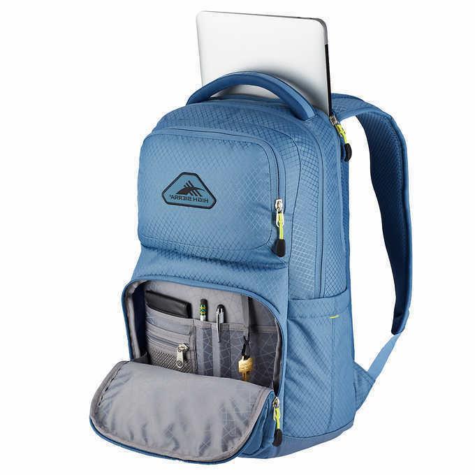 High Backpack Light Blue Laptop