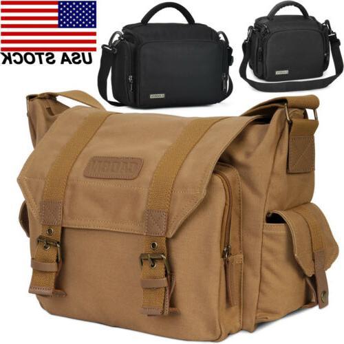 f1 canvas sling shoulder camera bag backpack