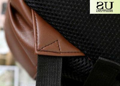 Fashion Leather Backpack Book Laptop Bags