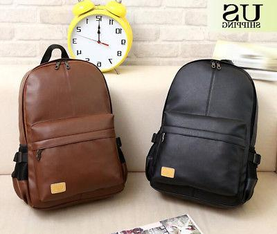 Fashion Women Leather Backpack Casual Book Shoulder