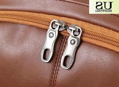Fashion Men Leather Book Laptop Shoulder Bags
