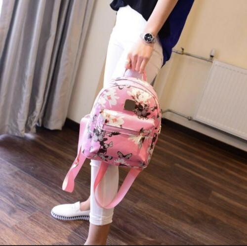 Fashion Girls Leather Backpack School Backpack Laptop Style girl
