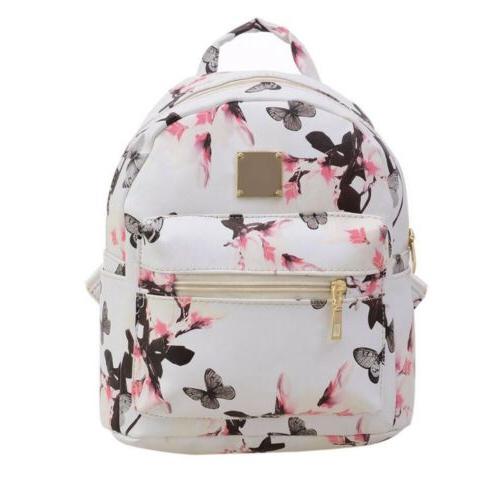 Leather School Backpack girl