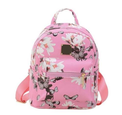 fashion women girls pu leather backpack travel