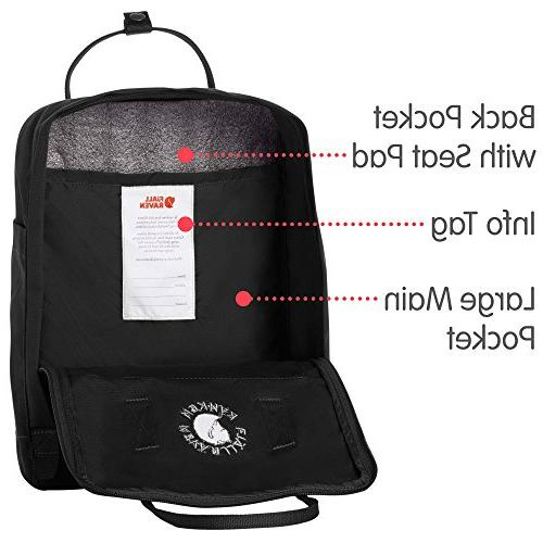 Fjallraven Recycled and Recyclable Kanken for Everyday, Black