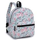 Floral Canvas Mini Backpack Purse Cute Daily Backpacks For T