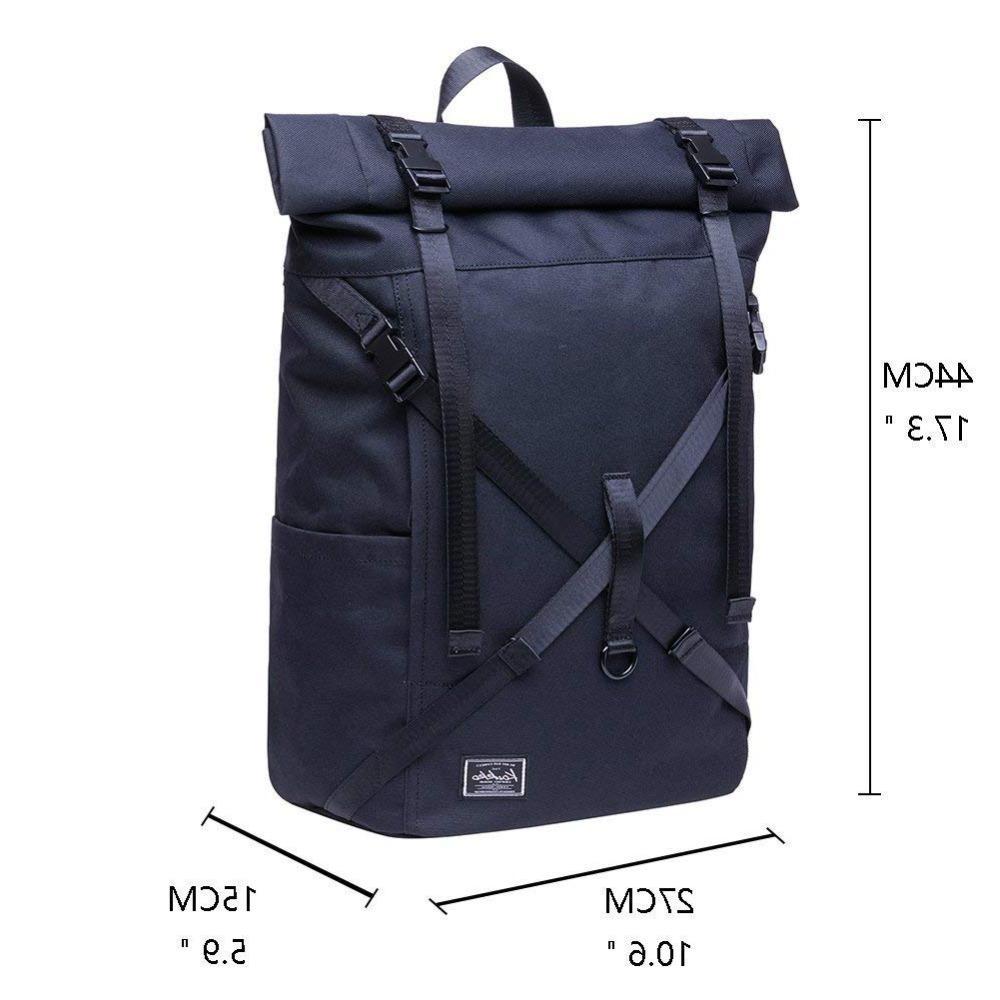 <font><b>KAUKKO</b></font> Roll Top <font><b>Backpack</b></font> & Leisure / Business Camping School Travel