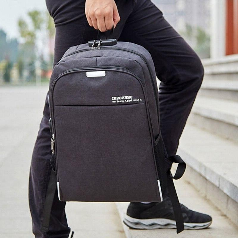 Litthing <font><b>Backpack</b></font> Charging 15.6 Theft Men Bags For Teenage Girls College