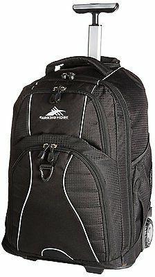 High Sierra Freewheel Wheeled Laptop Backpack, Black