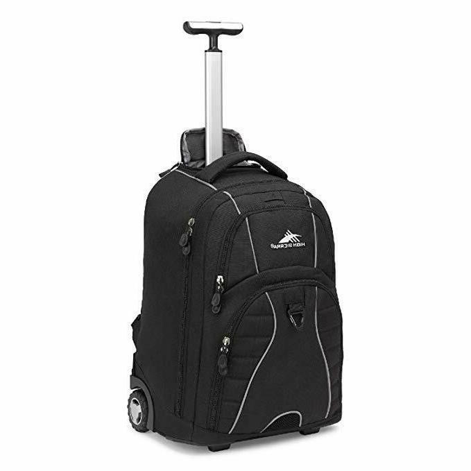 freewheel wheeled laptop backpack 15 inch student
