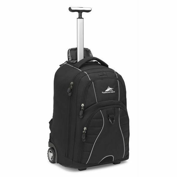 freewheel wheeled laptop backpack black